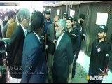 Imran Khan inspecting special K-9 unit dogs of KPK police Explosive Handling Unit. 