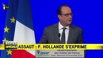 """François Hollande: """"Paris ville martyre mais ville lumière"""""""