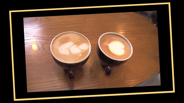Latte Art Coffee At Gloria Jeans Coffees | Cooking Asia