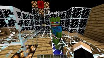 SCARING BASHURVERSE THE WATERMELON - Minecraft Trolling Youtubers with Minecraft Mods (Sca