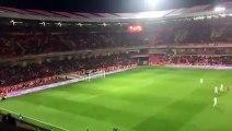 Turkish Soccer fans chanting ALLAH HU AKBAR During moment of silence