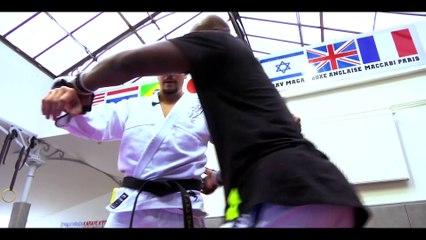 Vincent Parisi initie le chanteur Singuila au Jujitsu Combat dans L'expresso.