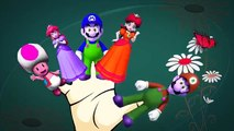 Finger Family Nursery Rhymes For Babies | Super Mario Cartoons Finger Family Rhymes For Ch