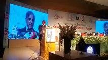 CM Shehbaz Sharif addressing International Seminar on Business Opportunities in Punjab.