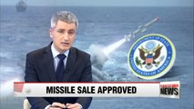 U.S. approves sale of Harpoon missiles to S. Korea