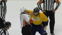 Hockey Player loses Tooth during Fight at Anaheim Ducks Game