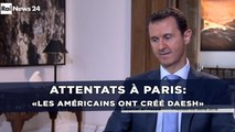 Attentats à Paris: «Daesh ne vient pas de Syrie, les Américains l'ont créé» fustige Bachar al-Assad
