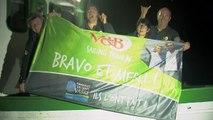 Arrivée de V and B ( Maxime Sorel - Sam Manuard ) - Transat Jacques Vabre 2015 - BR -