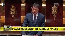 """Attentats : Manuel Valls avertit du """"risque d'armes chimiques et bactériologiques"""""""