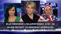 Une musulmane dénonce l'islamophobie avec un hijab aux couleurs du drapeau américain