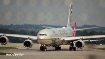 Etihad Airways Airbus A340-642 A6-EHI departure at Munich Airport München Flughafen