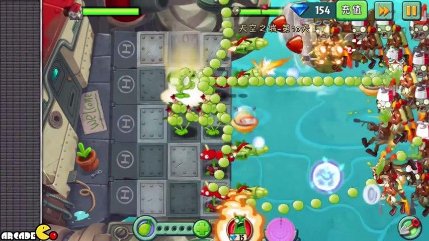 Plants Vs Zombies 2_ Sky Castle World Mini Game Scientist Zombies! (PVZ 2 China)