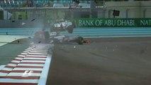 Rosberg and Karthikeyan Crash in Abu Dhabi 2012