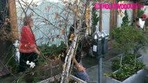Eva Longoria & Her Mother Ella Eva Mireles Visit Ken Paves Salon 1.5.15 TheHollywoodFix.co