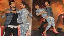 Bollywood RockStar Ranbir Kapoor & Babe Deepika Padukone Makes Fun On Launch Chemistry Meter Of Bollywood Movie Tamasha