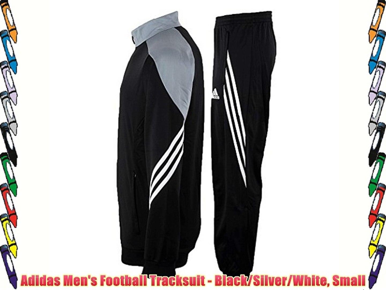 capítulo sarcoma Pies suaves  Adidas Men's Football Tracksuit - Black/Silver/White Small - video  Dailymotion