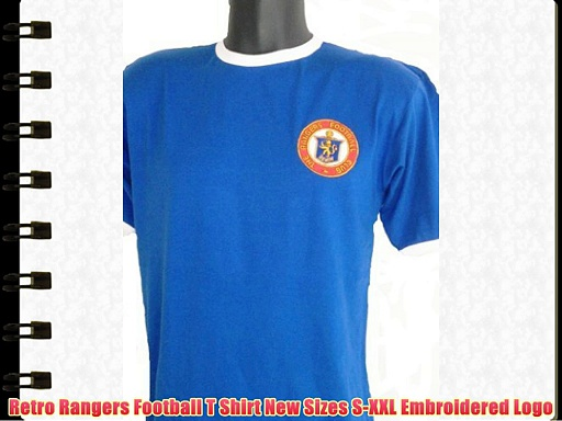 Retro Rangers Football T Shirt New Sizes S-XXL Embroidered Logo