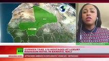 Gunmen take 170 hostages at luxury Radisson hotel in Bamako Mali