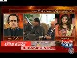 Qaim ali shah sirf angotha lagana jante hain - Shahid Masood makes fun of Qaim Ali Shah