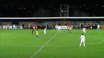 Thurrock's Kamarl Duncan scored one of the craziest wind-assisted own goals ever v Romford
