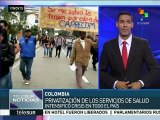 Colombia: denuncian crisis del sistema de salud por falta de recursos