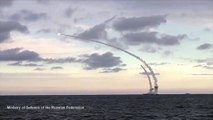 Russian warships launch cruise missiles from Caspian Sea