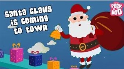Santa Claus Is Coming To Town | Christmas Songs For Children With Lyrics | Kids Christmas Song