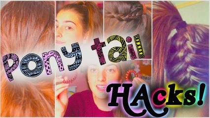 Pony Tail HACKS you need!!!