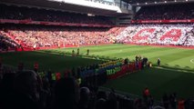 Steven Gerrard walks out at Anfield for the last time. (Fan Footage)