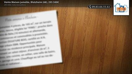 Vente Maison jumelée, Blotzheim (68), 295 500€