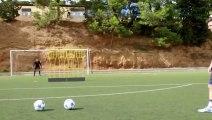 Barça_ Quel coup franc de Messi à l entraînement ( is playing today in clasico) 21.11.2015