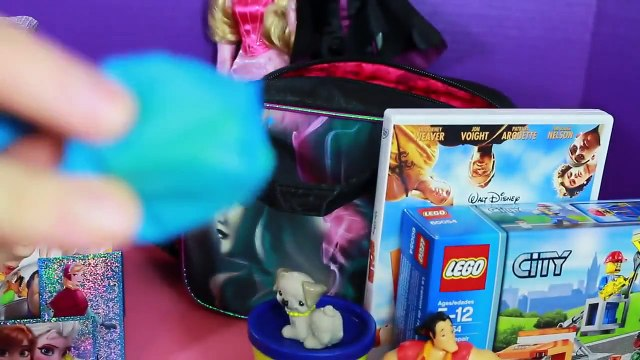Surprise Box Opening Surprise Lunch Boxes Disney Princess Aurora VS Maleficent Play Doh Fr