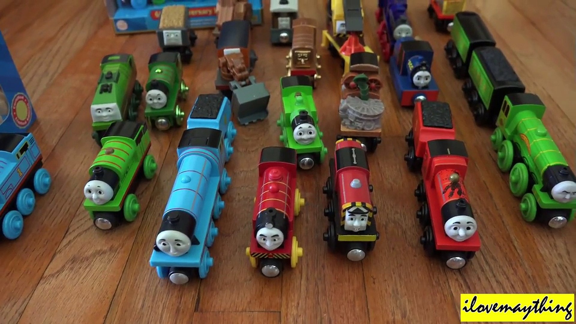 Some Of Hulyan And Mayas Thomas Friends Wooden Railway Collection