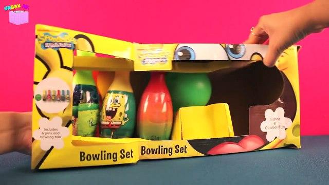 Spongebob Squarepants Toys Nickelodeon Spongebob Bowling Set With Patrick Kids Toys Unboxing