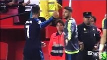 Cristiano Ronaldo made an ugly gesture towards Sergio Ramos after the match Real Madrid vs