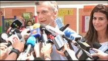 Sondeos a pie de urna apuntan triunfo de Mauricio Macri en Argentina