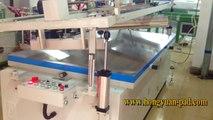 Large oblique arm screen printing machine
