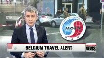 S. Korea issues travel alert for Brussels, raises warning level for Mali