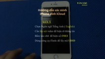 Xác minh xóa tài khoản iCloud iPhone 6s 6s+ 6 6+ 5S
