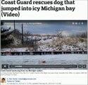 4/02:2015 - Sauvetage dun chien dans leau glacee - Gaurd-coat Amerique