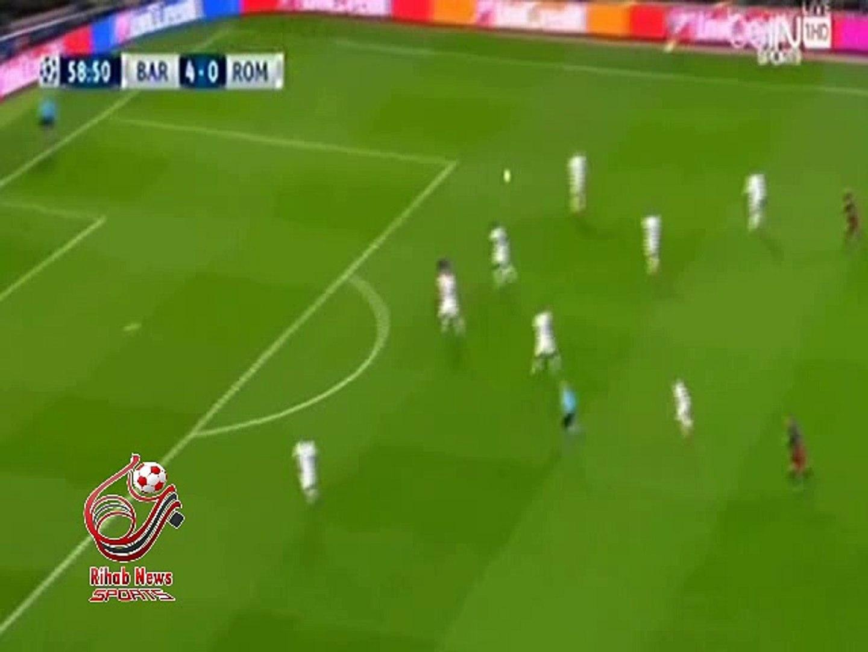 هدف برشلونه الخامس (  برشلونة - أسبانيا 5 -0 روما - إيطاليا ) دورى ابطال اوروبا
