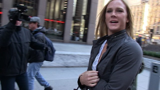 Holly Holm -- Ronda's Not On My Xmas List ... But We Can Be Friends