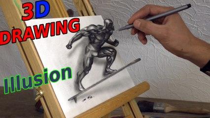 Silver Surfer 3D Drawing | Marvel Superhero | Speed Painting