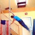 Man Goes Up And Down On Pole Horizontally | Human Flag