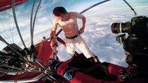 Le saut d'une montgolfière sans parachute pour Antti Pendikainen, et un bon coup d'adrénaline