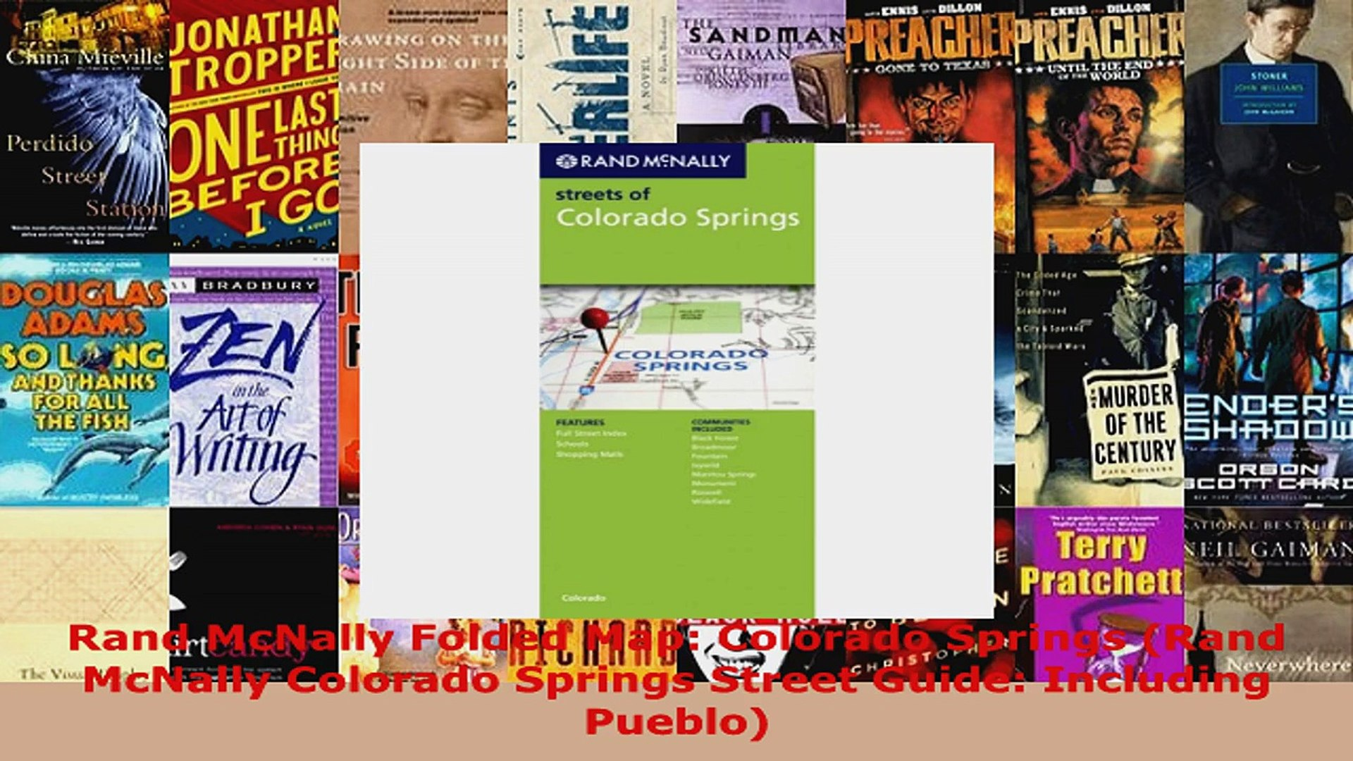 Read  Rand McNally Folded Map Colorado Springs Rand McNally Colorado Springs Street Guide Ebook Free