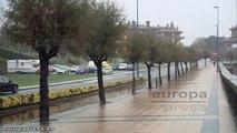 Lluvias persistentes y rachas viento en Euskadi