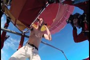 Hombre saltó sin paracaídas