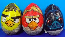 ANGRY BIRDS STAR WARS surprise eggs Unboxing 3 surprise eggs Angry Birds STAR WARS MyMilli