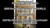 Chicago Real Estate For Sale by The Kite Team-Keller Williams Premier Realty : 2015 North Clifton Avenue, CHICAGO, IL 60